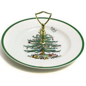 Spode Christmas Tree Serving Dish Tidbit Tray